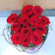 Elegant Red Box -12 Premium Roses-2
