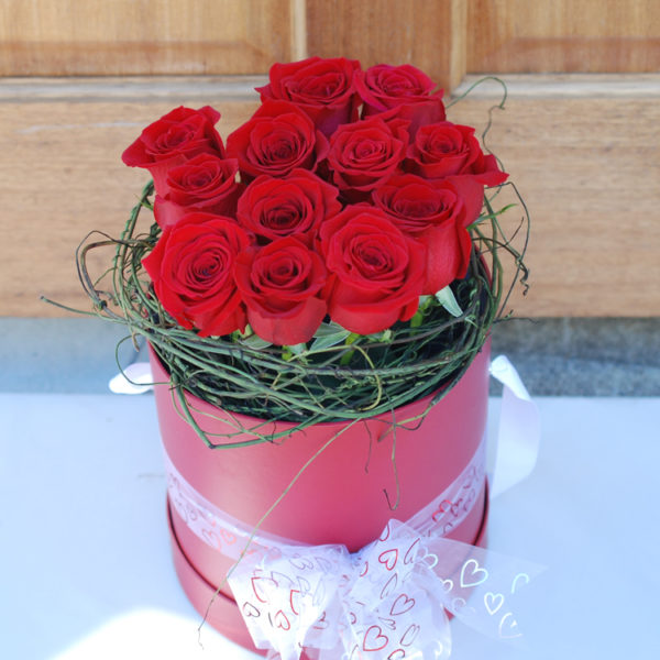 Elegant Red Box -12 Premium Roses