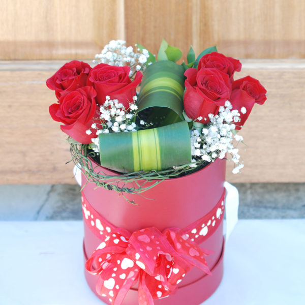 Elegant Red Box -6 Premium Roses