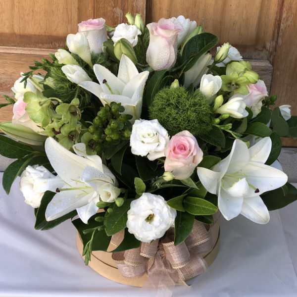 Contemporary Hatbox Arrangement