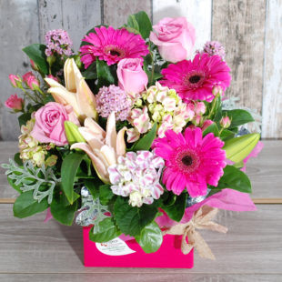 Glamour Pink Box Arrangement