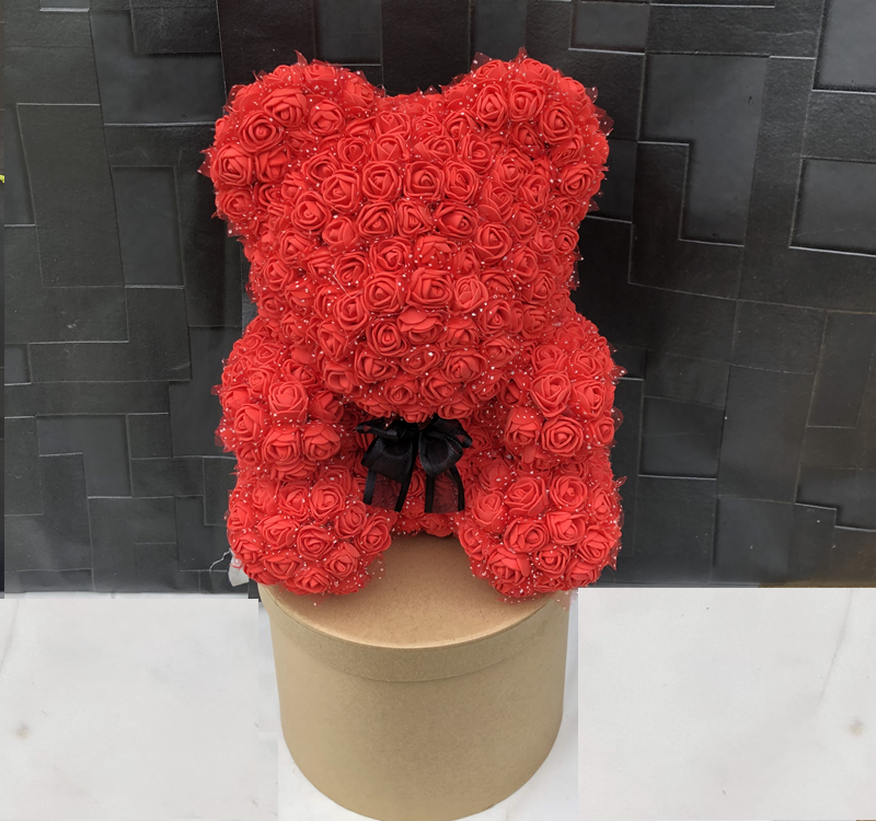 Rose teddy bear – RED – 25cm